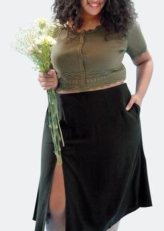 Lovefool The Slit Skirt - 3X - Also in: L, XL, 2X, 4X, S, M