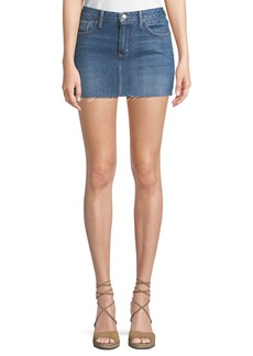 Lovers + Friends Alex Raw-Hem Denim Mini Skirt