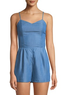 Lovers + Friends Anna V-Neck Chambray Romper