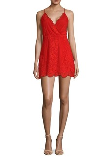 Lovers + Friends Art Deco Lace Mini Dress