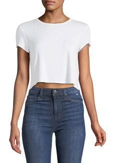 Lovers + Friends Cropped Jersey T-Shirt
