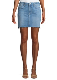 Lovers + Friends Elijah Light-Wash Denim Miniskirt