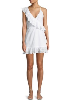 Lovers + Friends Kate Eyelet Flounce Short Dress
