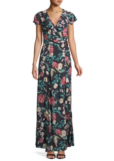 Lovers + Friends Kayla Floral-Print Wrap Maxi Dress