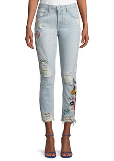 Lovers + Friends Logan High-Rise Patchwork Jeans