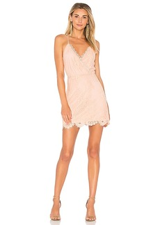 Lovers + Friends Art Deco Dress in Blush. - size L (also in M,S,XS)