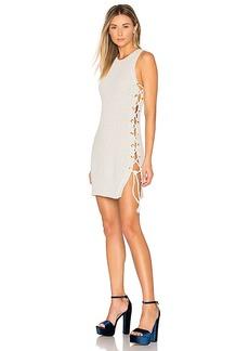 Lovers + Friends Belle Sweater Dress in Light Gray. - size L (also in M,S,XL)