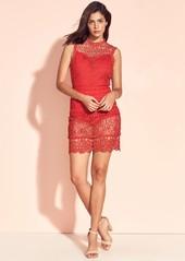 Lovers + Friends Blush Crochet Shift Dress