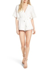 Lovers + Friends Brixton Crochet Romper