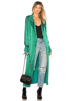 Lovers + Friends Candace Trench in Green. - size L (also in M,S,XS, XXS)