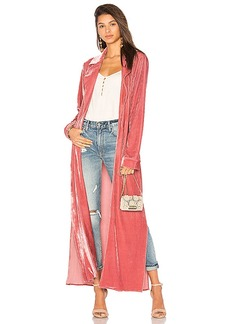 Lovers + Friends Cassie Robe in Rose. - size L (also in M,S,XL, XS, XXS)