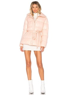 Lovers + Friends Cold Night Puffer in Blush. - size L (also in M,S,XS, XXS)