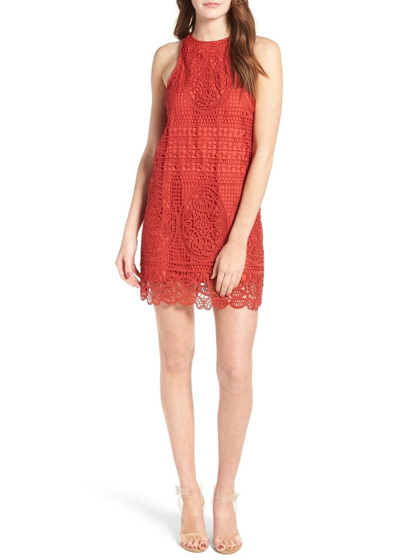 Lovers + Friends Caspian Crochet Shift Dress