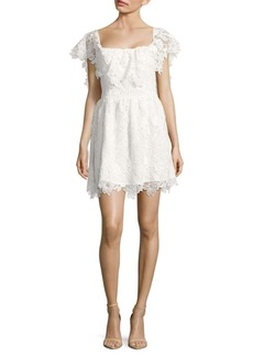 Lovers + Friends Dream Vacay Popover Lace Dress
