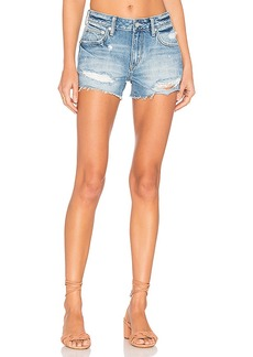 Lovers + Friends Dylan Boyfriend Shorts in Blue. - size 23 (also in 24,25,26,27,28,29,30)