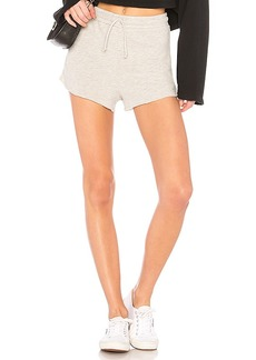 Lovers + Friends Elora Crop Shorts in Light Gray. - size XS (also in L,M,S,XL, XXS)