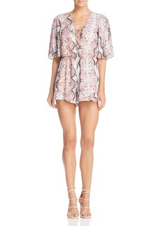 Lovers + Friends Epiphany Lace-Up Romper