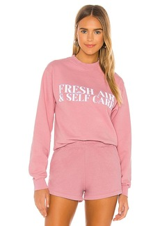 Lovers + Friends Fresh Air Self Care Sweatshirt