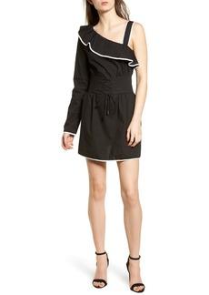 Lovers + Friends Helen One-Shoulder Ruffle Dress