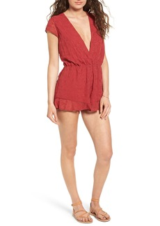 Lovers + Friends Hey Babe Surplice Romper