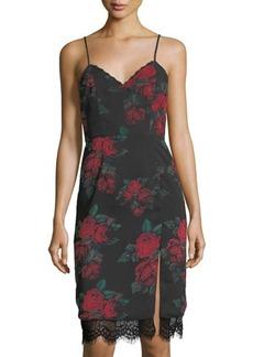 Lovers + Friends Hymn Rose-Print Slip Dress