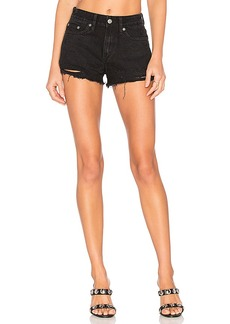 Lovers + Friends Jack High-Rise Shorts in Black. - size 29 (also in 24,26,28,30,31)