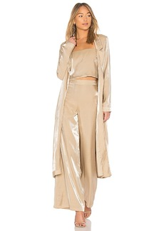 Lovers + Friends Jackson Duster in Metallic Gold. - size L (also in M,S,XS, XXS)