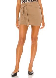 Lovers + Friends Justina Tie Mini Skirt