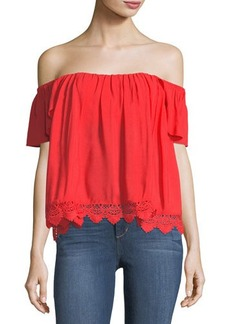 Lovers + Friends Life's A Beach Off-the-Shoulder Blouse