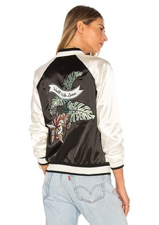 Lovers + Friends Los Angeles Bomber in Black & White. - size L (also in M,XS)