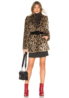 Lovers + Friends Mariana Faux Fur Coat