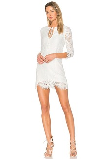 Lovers + Friends Marlie Mini Dress in White. - size M (also in S,XS)