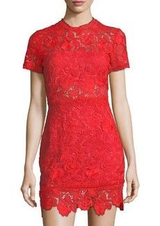 Lovers + Friends Mon Amour Floral-Lace Dress