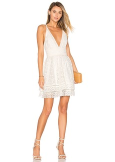Lovers + Friends Moon Dance Dress in White. - size L (also in M,S,XS)