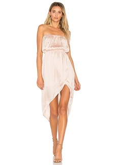 Lovers + Friends Night Lights Midi Dress in Blush. - size L (also in M,S,XS)