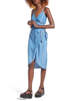 Lovers + Friends Orchid Chambray Wrap Dress