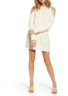 Lovers + Friends Phoenix Cold Shoulder Sweater Dress