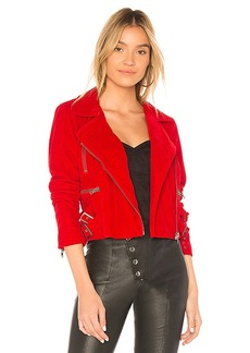 Lovers + Friends Pierce Moto Jacket in Red. - size XS (also in M,S)