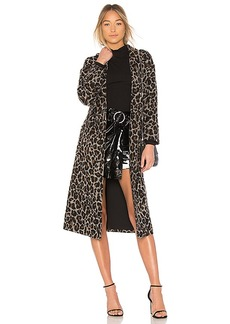 Lovers + Friends Santiago Coat in Black. - size L (also in M,S,XS, XXS)