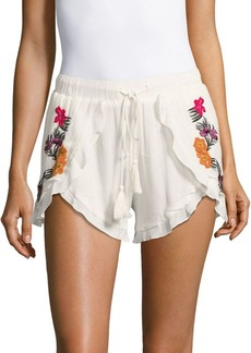 Lovers + Friends Serene Ruffled Shorts