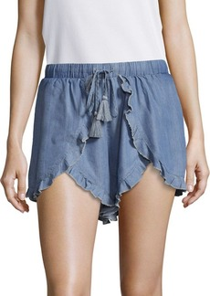 Lovers + Friends Serene Ruffled-Trim Drawstring Shorts