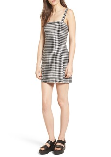 Lovers + Friends Shane Gingham Minidress