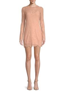 Lovers + Friends Short & Sweet Lace Overlay Shift Dress