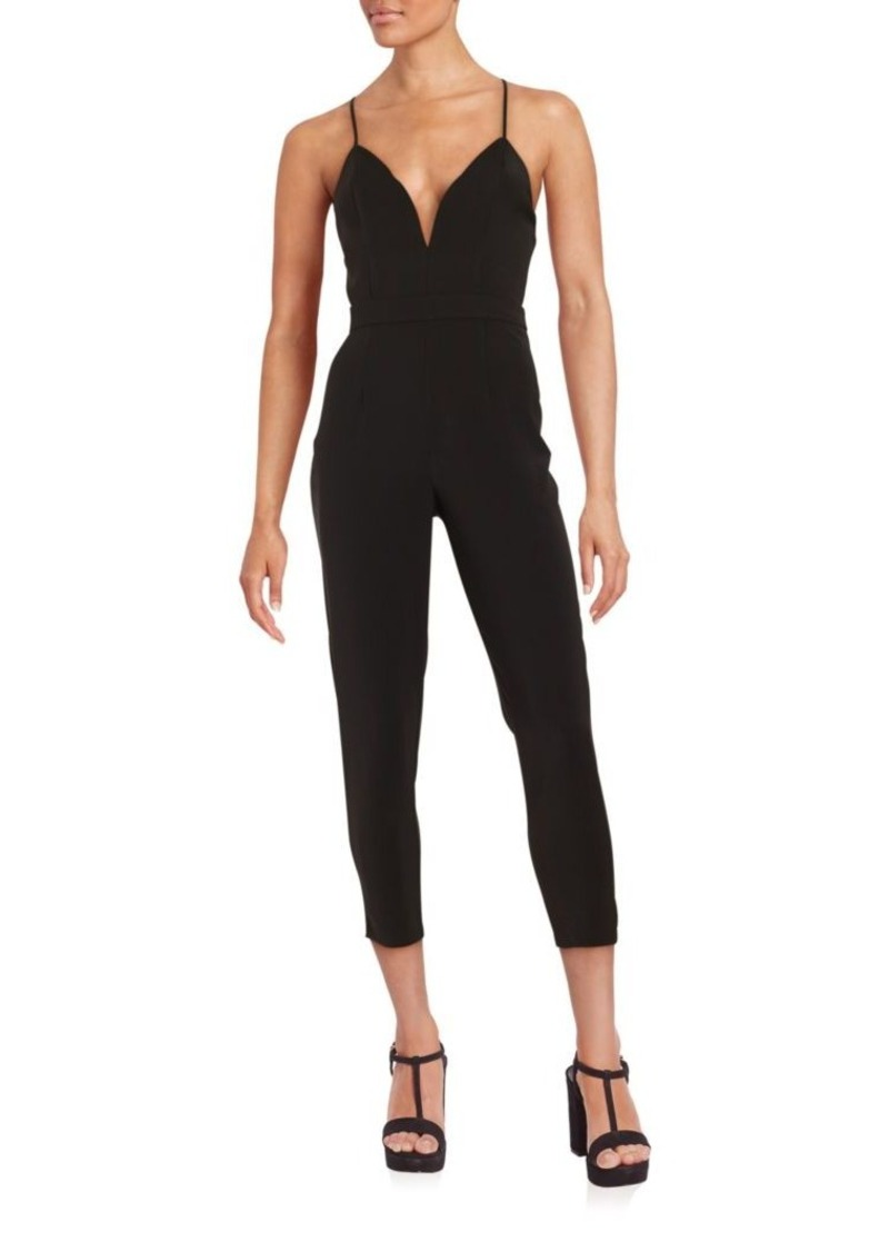 Lovers + Friends Solid Cropped Jumpsuit