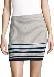 Lovers + Friends Striped Cotton Skirt