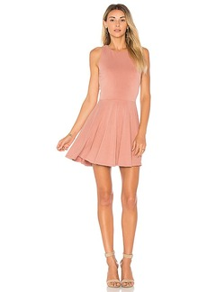 Lovers + Friends Sweet Thing Fit & Flare Dress in Mauve. - size L (also in M,S,XS)