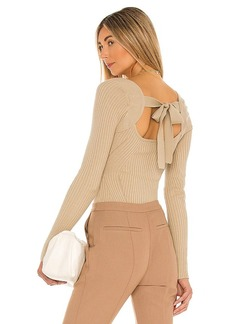 Lovers + Friends Tie Back Fitted Rib Sweater