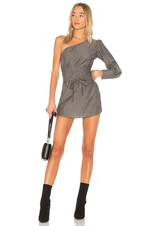 Lovers + Friends Tiffany Corset Dress in Gray. - size L (also in M,S,XL, XS)