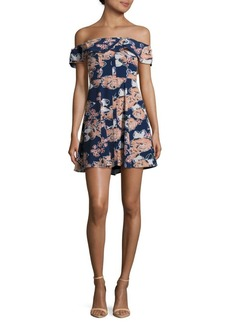 Lovers + Friends Vineyard Floral Printed Off-The -Shoulder Dress