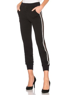 Lovers + Friends WORK by Lovers + Friends On the Line Track Pant in Black. - size L (also in M,S,XS)